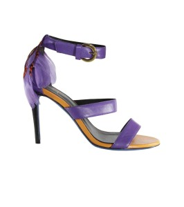 Adonai Vera Violet Feather Sandals
