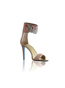 Adonai Pink Suede Jewellery Sandals