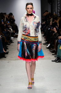 Antonio Ortega Top and Grafitti Lurex Skirt