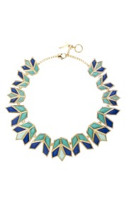 Lotus necklace blue pp