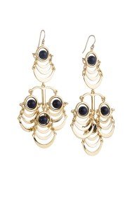 chandelier earrings black pp