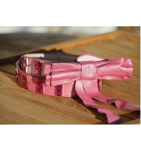Nina Transfeld Rhinestone Leather Belt